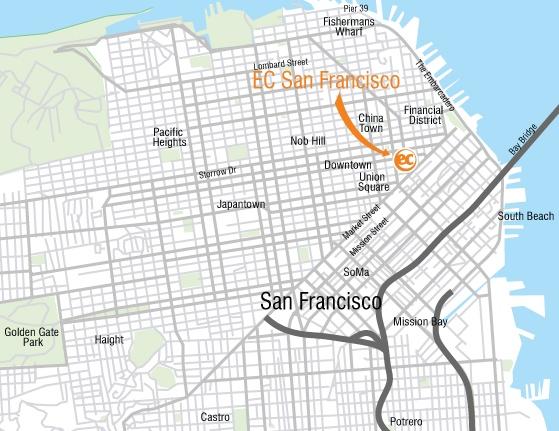 EC English à San Francisco pour votre séjour linguistique aux USA