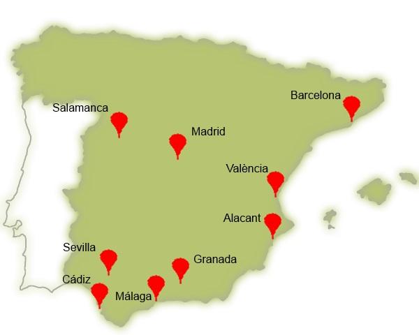 sejour linguistique en Espagne - cours d'espagnol en Espagne