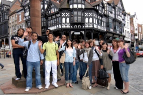 Etudiants English in Chester en ville de Chester