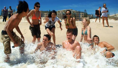 Plage de Perth en Australie