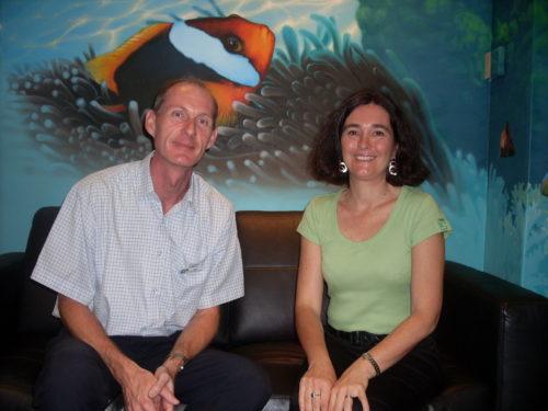 Cyrille Marshall en visite à Cairns avec Ueli Stauffer, directeur de l'école