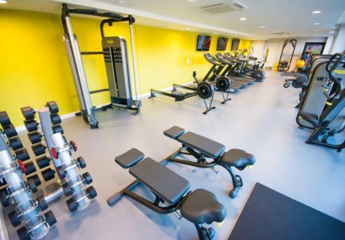 La salle de gym à disposition dans la résidence étudiante