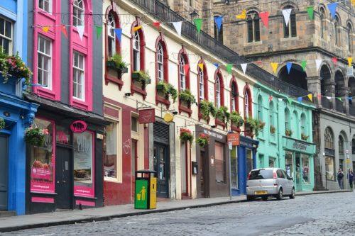 Les rues d'Edimbourg
