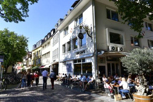 Une rue de la vieille ville de Freiburg