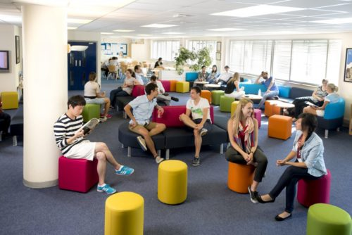 Lounge à l'école LSI Portsmouth