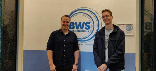 Philip Marshall en compagnie de Nicolai Schnatmeyer, directeur de l'école BWS à Cologne !