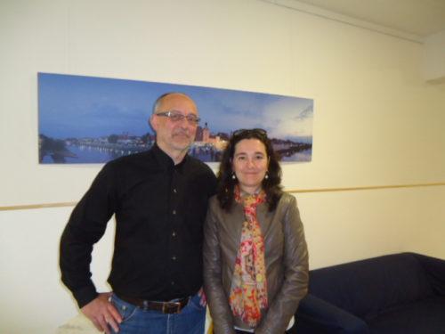 Cyrille Marshall en compagnie Bernhard Freidl, directeur de l'école
